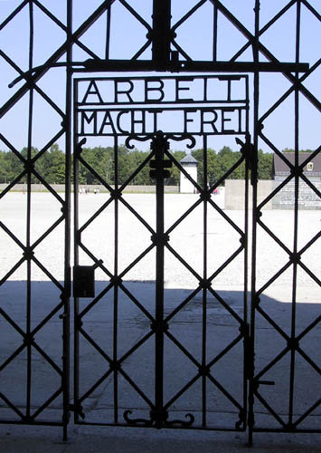 Entry door to Dachau Concentration Camp
